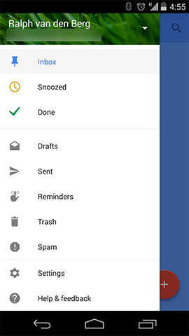 Screenshot of Google Inbox on Android